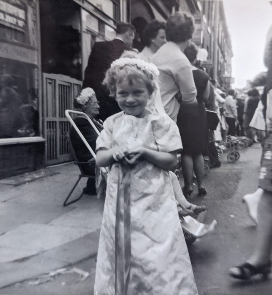Kathryn at a Walking Day in the 1960s